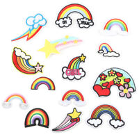 Rainbow DIY Embroidered Sew Iron On Patches Badge Fabric Applique Sticker Craft