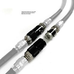 HEL Performance Quick Release Dry Break Coupling -3 AN JIC Titanium Black/Silver