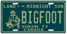Bigfoot YETI Sasquatch metal Yukon Territory 1950's Canada License Plate