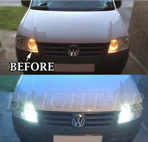 FOR VW CADDY SIDELIGHT XENON WHITE LED UPGRADE ERROR FREE LIGHT BULBS