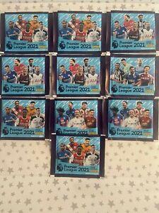 10x Panini Premier League 2021 Sticker Collection Packs