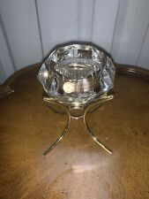 Diamond Shaped 24% Lead Crystal Candle Holder - Bleikristall