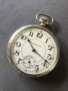 1917 Hampden 17jewel Pocket Watch No 108 Lovely Condition Working