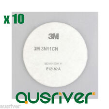 10Pcs3M 3N11 Filter Cotton for 3M 3850 3301CN 3200 Gas Mask Protection Accessory