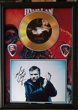Meatloaf Gold Vinyl Look CD, Autograph & Plectrum Display