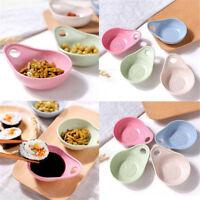 Wheat Straw Baby Food Bowl Spoon Set Fruit Snack Plate Seasoning Sauce Dish Pink