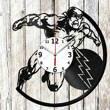 Flash Vinyl Wall Clock Made of Vinyl Record Original gift 2605