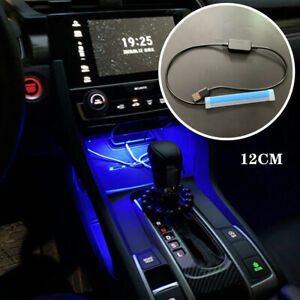 12CM 5V USB Car LED Central Control Light Strip Atmosphere Glow Neon Light Set