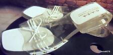 Casa di stella perspex & white sandals mules 39 6