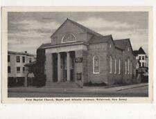 First Baptist Church Maple & Atlantic Avenues Wildwood NJ USA Postcard 382a