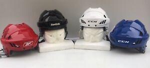 Reebok 8K Pro Stock Hockey Helmet White/ Royal Blue/ Black All Sizes New 5002