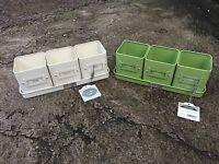 Burgon & Ball Herb Pots - 3 in a Tray - Planter