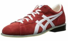 ASICS Weight Lifting Shoes 727 Red White Leather TOW727 Select Size F/S