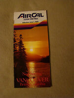 AirCal - Timetable - June 1, 1985