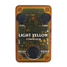 Musiwewe Light Yellow Compressor Guitar Pedal