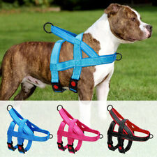Reflective Medium Large Dog Harness No Pull Front Leading Nylon Vest with Handle
