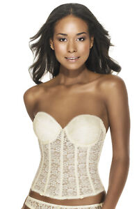 36C Dominique Hanna Lace Underwire Push Up Bridal Corset Bra 7759