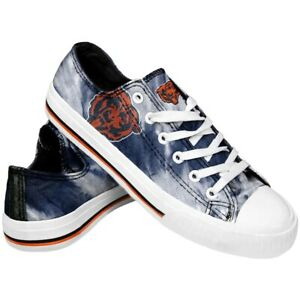 Chicago Bears Women's Low Top Tie-Dye Canvas Shoes