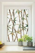 Bamboo 2'x3' Stained Glass Privacy Static Cling Window Film Colorful Door Decor