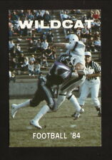 Weber State Wildcats--1984 Football Pocket Schedule--Coors