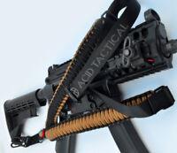 One Point 550 Paracord Single Point Survival Rifle Shotgun Gun Sling (Coyote)