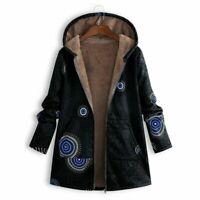 Outwear Lined Hooded Winter Parka Floral Fleece Women Warm Coat Jacket