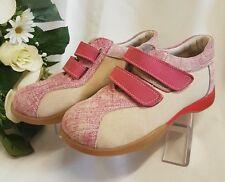 enfants filles chaussures baskets CUIR VÉRITABLE fabriqué Italie Jeans Rose 31