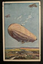 1916 Bromberg Germany Zeppelin German Air Fleet Illustrated Postcard Cover