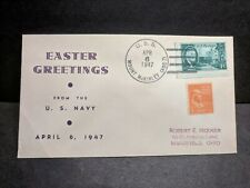 USS MOUNT McKINLEY AGC-7 Naval Cover 1947 EASTER Cachet