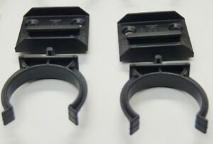 10x BLACK PLASTIC KITCHEN LEG PLINTH KICK BOARD CLIPS BRACKETS SCREW FIXING 32mm