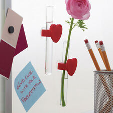 MOMA Chemical Attraction Heart Mini Vase Test Tube Wall Mount Desk Science Gift