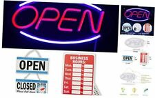 Neon Open Sign with Hours for Business Window Light Up Open Sign Led Board