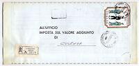 Guardia Finanza - lire 180  isolato - Raccomandat - per Cosenza  - 10 - 07  1974