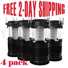 4 Portable Collapsible Tactical LED Lanterns TacLight Camping Lamp FREE SHIPPING
