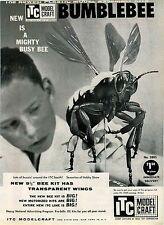 "1959 ADVERT ITC Model Craft Bumblebee 9 1/2"" TV Cowboy Characters Maverick ++"