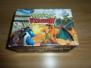 POKEMON STADIUM N64 NINTENDO 64 GAME INCLUDES TRANSFER PACK BOXED INSTRUCTIONS