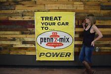 Pennzoil Zip Gas Oil Station Cloth Banner Dealership Auto Garage Sign VINTAGE