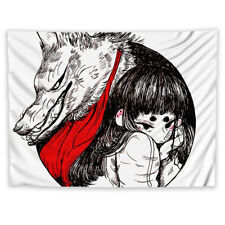 Illustration Girl Trippy Tapestry Wall Hanging Mandala Indian Decor Poster
