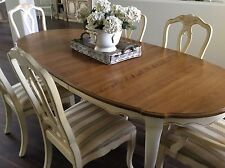 ethan allen dining room sets. Dining Set Table 6 Splat Back Chairs Leaves Country French by Ethan  Allen Furniture Sets eBay