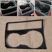 Fit 09-15 Audi A4 B8 A5 Carbon Fiber Cup Holder Panel Cover Frame Overlay Trim