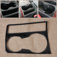 Fit 09-15 Audi A4 B8 A5 Carbon Fiber Cup Holder Panel Cover Frame Overlay Trim
