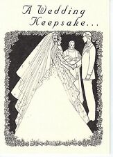 Wedding Card w/King George VI Lucky .500 Silver Sixpence Coin for Bride's Shoe