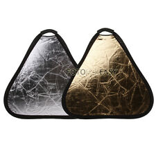 "60cm 24"" 2-in-1 Handheld Triangular Light Collapsible Portable Reflector Panel"