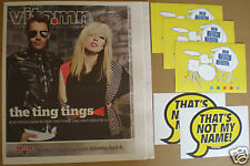 TING TINGS Katie White 2009 MAGAZINE+5 STICKERS for cd That's Not My Name