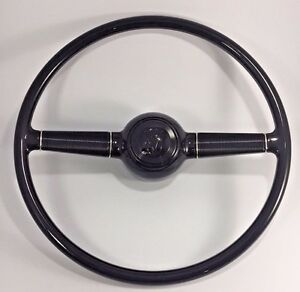 Deluxe 15'' Steering Wheel w/ V8 Horn Button for 1940 Ford w/ GM Steering Column