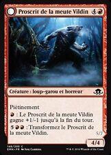 MTG Magic EMN - (x4) Vildin-Pack Outcast/Proscrit de la meute Vildin, French/VF