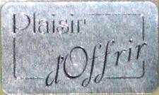 15 Etiquettes autocollantes stickers cadeaux  PLAISIR D'OFFRIR Argent - Ref S18