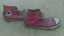 Converse All Star High Top Chuck Taylor Pink Canvas Shoes Sneakers 8 Womens