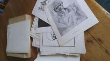 Gravure du XXe siècle et contemporaines signé en scène de genre