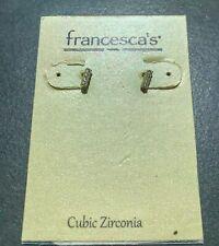 Stud Earrings - Good Condition francesca's Cubic Zirconia Mini Rectangle